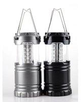 Nouvelles lanternes portables brillantes pliables 30 LED lanternes de camping légers pour le camping, la randonnée, la pêche, les urgences sans DHL