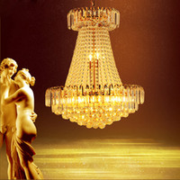 LED Modern Gold Crystal Chandeliers Lighting Fixture Europea...
