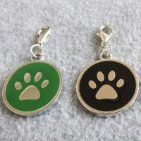 Projeto do círculo animal de estimação Tags Paw liga de zinco Dog Pet ID Tags pingentes para cães gatos pequenos