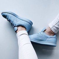 Blue Stan Smith Raf Simons Snearker Casual Leather Men and W...