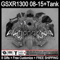 8Gifts gloss grijs voor Suzuki Hayabusa GSXR1300 08 15 GSXR-1300 14MY72 GSXR 1300 GSX R1300 08 09 10 11 12 13 14 15 Top Gray Black Fairing Kit