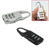 Wholesale- New Travel 3 Digit Code Safe Combination Luggage ...