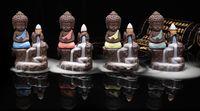 O Pequeno Monge Backflow Queimador de Incenso Backflow Torre Cones Varas Titular Porcelana Cerâmica Buda Monge Caçador De Cinzas