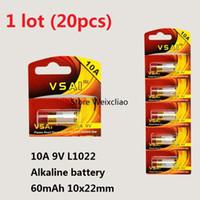20 قطع 1 وحدة 10a 9 فولت 10A9V 9V10A L1022 البطاريات القلوية الجافة 9 فولت بطاريات استبدال بطاقة a23l vsai مجانية