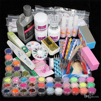 42 Acrylic Liquid Powder Glitter Clipper Primer File Nail Ar...