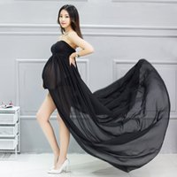 Free Size Two Layer Maternity Gown Stretch Lace Elegant Mate...