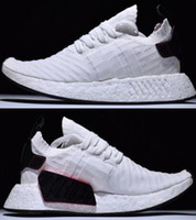 Newest hot- sell fish- scale pattern white NMD R2 PK BOOST Sne...