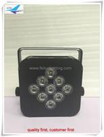8pcs / lot vente chaude 9x18w rgbwa uv 6in1 batterie sans fil alimenté led uplighting stade dj plat