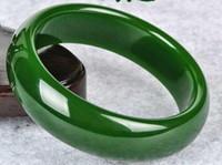 Natural Xinjiang Hetian Jade Jade Pulseira Espinafre Personalidade Verde Jurchen Pulseira Autêntica Uma Pulseira Quente