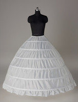 2017 وصول جديد التنورات الداخلية الكبيرة الأبيض 6-الأطواق الكرة ثوب العروس اللباس الرسمي تحتية قماش قطني تحتية زائد حجم الزفاف اكسسوارات