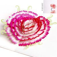 Cravo cartões Cartão de presente de dia das mães Parabéns de aniversário de mamãe cartões 3D pop up cartões Cartão de presente de ação de Graças