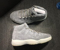 Wholesale new 11 Cool Grey Suede mens Basketball Shoes outdo...