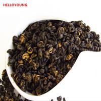 200g noir biologique thé chinois Yunnan frisé 1 bourgeon 1 feuille Dianhong Thé rouge santé du Nouveau Cuit thé vert usine alimentaire vente directe