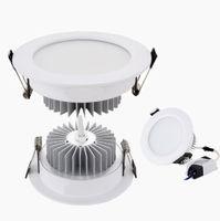 Shell de prata / branco LED para baixo luzes 9W 12W 15W 18W Dimmable LED Downlights luz de teto recuado 110-240V