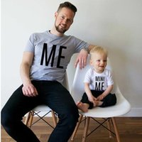 Summer family matching outfits print letter me mini me fathe...
