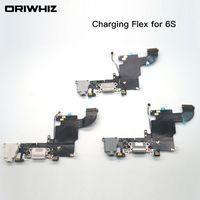 IPhone 6 s 6 s Artı USB Dock Şarj Şarj Kulaklık Ses Portu Flex Kablo Yedek parça Beyaz Siyah Renk Sipariş Karıştırın