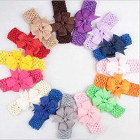 8. 5CM Baby Kids Grosgrain Dovetail Ribbon Bowknot Headbands ...