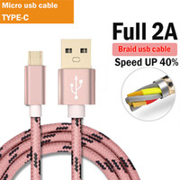 2A Micro USB Cable Braided Wire Metal Shell Gold- plated Conn...