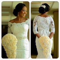 Sexy African Wedding Dresses With Long Sleeve Elegant Sash B...