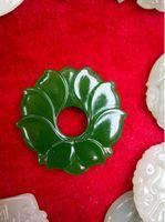 Großhandelsjade-Blumen-Grün-Jade-Anhänger für Schmuckhalskette Mann und Frauen schmucksachen natürliche Jade-Blume freies Verschiffen F1Z1