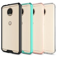 For MOTO G5S Case Soft TPU Bumper + Clear Hybrid Back Cover ...