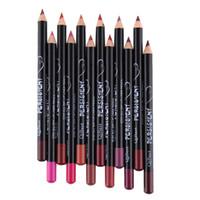 Profesional Multi-funcional lápiz delineador de larga duración a prueba de agua de maquillaje de labios cosmética Cejas Delineador de labios de colores Plumas
