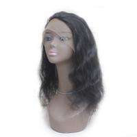 """Brasiliano corpo ondulato 360 pizzo frontale chiusura Virgin Remy capelli umani peruviano pieno pizzo frontale 22.5 * 4 * 2 1B libera parte 8 """"-20"""""""