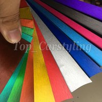 Gebürstet Chrom matt Vinyl WRAP Car Styling Mit Entlüfter ganze Auto viele Farbe vorhanden rot / blau / grün / pink 1.52x20m / Rolleneinwickelstation