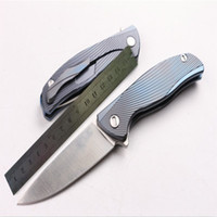 NEWER Bear head 95 Pteris titanium handle knife outdoor surv...