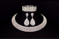 Hot Selling Bride Classic Rhinestone Crystal Choker Necklace...