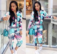 Fashion High Street 2 Piece Set Women Casual Tracksuits Digi...