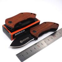 DA33 Cep Katlanır Blade Bıçak EDC Mini Pocket Knife Ahşap Saplı Kamp Survival Bıçaklar Geri Klip Yürüyüş Araçları Ile En Iyi Hediye