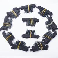 الجملة 100 قطع مقاطع 5TEETH ل الباروكة كاب صنع أمشاط أدوات الشعر