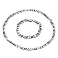 Wholesale 316L Stainless Steel Jewelry Set Chain Necklace br...