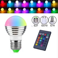 E27 B22 E14 GU10 16 Color Changeable RGB Magic 3W LED Spotli...