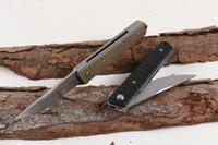 신사 칼 (2 색) 접이식 야외 나이프 생존 캠핑 사냥 칼 접는 나이프를 추천
