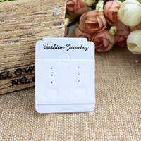 2021 earring packaging Wholesale 200pcs/lot 4*4.8cm White Plastic PVC Velvet Jewelry Stud Earrings Display Packaging Card Hanging Tags Can Customized Logo