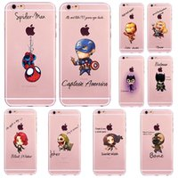 For iPhone 5S 6S 7 Plus cartoon The Avengers painting Cases ...