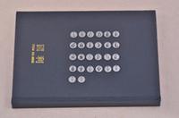 تعيين الفولاذ المقاوم للصدأ رسالة A-Z 26pcs / lot الإنجليزية الأبجدية سحر مجوهرات العثور على Accerssories لسوار سلسلة مفتاح سحر