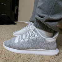 With shoes box Tubular Shadow Knit 350 Boost Sneakers Traini...