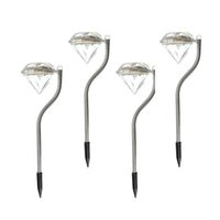 LED solare lampada di diamante solare esterno prato luci da giardino lampada lampada all'ingrosso Street Garden Villa