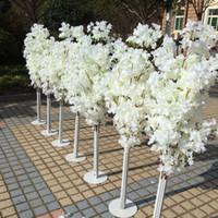 1.5M Yükseklik beyaz Yapay Kiraz Çiçeği Ağacı Roma Sütun Yolu Düğün Mall Açıldı Dikmeler için Leads