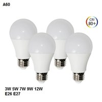 A19 A60 Edison Screw LED Bulb Lights AC85- 265V LED Globe Bul...