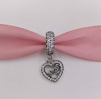 Mothers Day 925 Sterling Silver Beads Centre Of My Heart Pen...