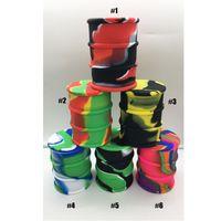 500 ml Grande Comestível Silicone Barril de Óleo Container Frascos Dab Wax Vaporizador Óleo De Borracha Barril Forma Container Silício Dabber Caixa de Erva Seca