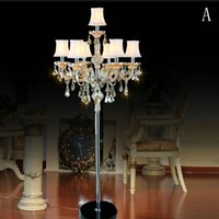 Bedroom living room study crystal floor lamps K9 candle lamp...