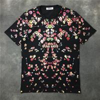 Heißer verkauf 2017 Neue Modemarke Mann Blumen T shitrs Männer Kurzarm Casual TEE Männer ganzkörper Blumen Drucken Mode T-shirt