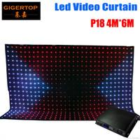 P18 4M * 6M Tricolor 3in1 Led vidéo rideau DJ fond scène pour LED DJ mariage Vision Rideau Backdrops 3 broches DMX Controller