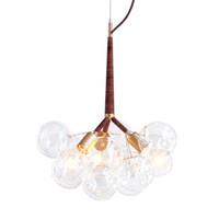 Luz Negro burbuja de cristal moderna lámpara colgante creativo Inicio Sala de la lámpara Lámpara de techo libre PA0134 envío