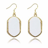 Fashion Smooth Surface Dangle Earrings Brand Signature Earri...